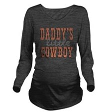Daddys Little Cowboy Long Sleeve Maternity T-Shirt