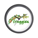 Froggies Wall Clock