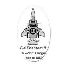 F-4 Phantom II Spook - MiG Parts # Oval Car Magnet