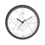 Masonic faux marble Wall Clock