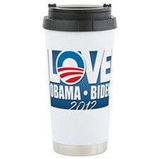 LOVE Obama Biden 2012 Ceramic Travel Mug