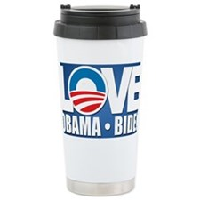 LOVE Obama Biden Ceramic Travel Mug