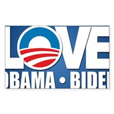 LOVE Obama Biden Decal