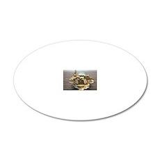 jfk cv framed panel print 20x12 Oval Wall Decal