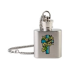 Blue Cross 6000x6000 Flask Necklace