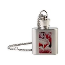 pink tulip itouch 4 Flask Necklace