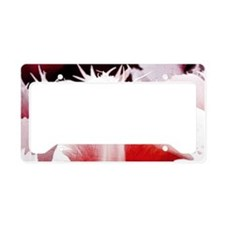 pink tulip sm framed print 2 License Plate Holder