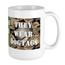 10x3_sticker_dogtags Coffee Mug