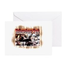 Yellowstone Park souvenir  Greeting Cards (Package