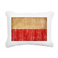 Poland textured aged cop Rectangular Canvas Pillow
