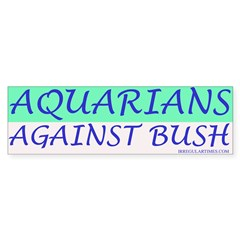 Aquarians Against Bush Bumper Sticker