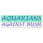 Aquarians Against Bush Bumper Sticker