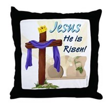 Jesus He is Risen! Throw Pillow
