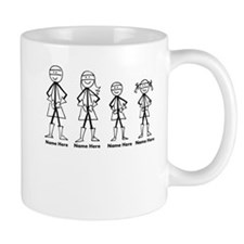 Personalized Super Family Coffee Mugs