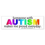 Autism Pride Bumper Car Sticker