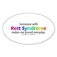 Rett Syndrome Pride Oval Decal