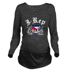cuba3 Long Sleeve Maternity T-Shirt