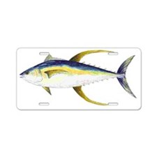 Yellowfin Tuna Aluminum License Plate
