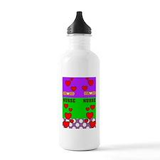 ff NURSE GREEN PURPLE Water Bottle