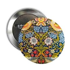 "Strawberry thief 2.25"" Button"