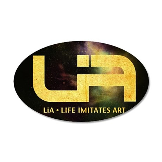 LiA Logo stars  text 2 35x21 Oval Wall Decal