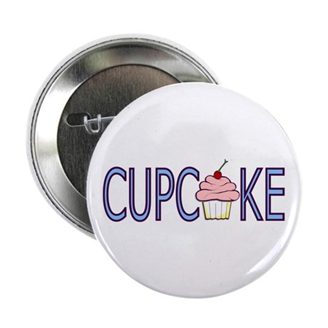 "Blue Letters Cupcake 2.25"" Button (10 pack)"