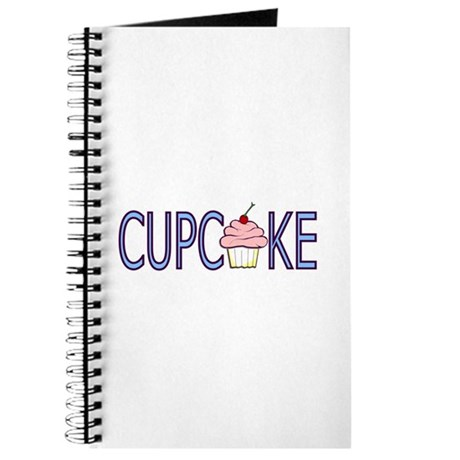 Blue Letters Cupcake Journal