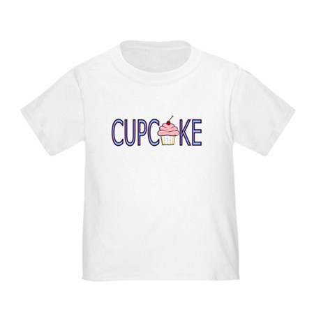 Blue Letters Cupcake Toddler T-Shirt