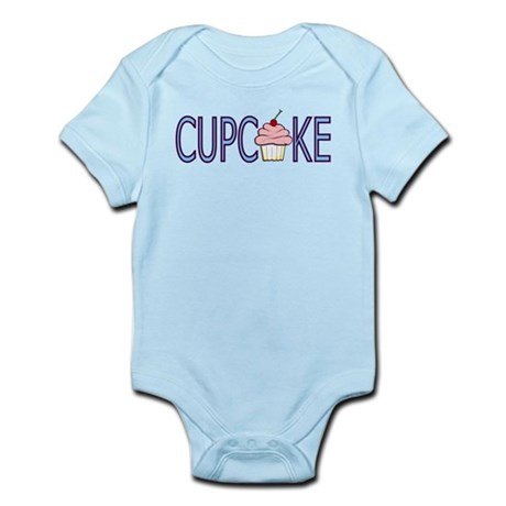 Blue Letters Cupcake Infant Bodysuit
