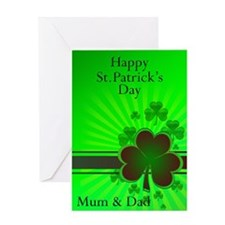 Happy St Patricks day card for your mum and dad Gr