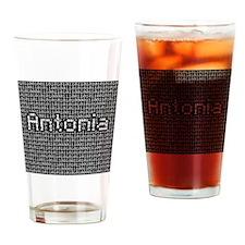 Antonia, Binary Code Drinking Glass