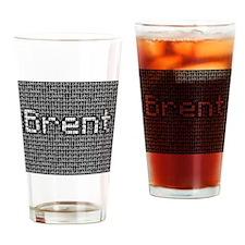 Brent, Binary Code Drinking Glass