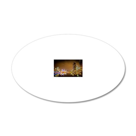 Melbourne 20x12 Oval Wall Decal