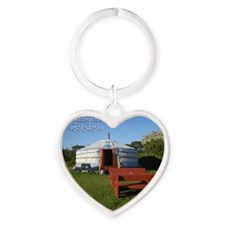 Yurt  Bench Heart Keychain