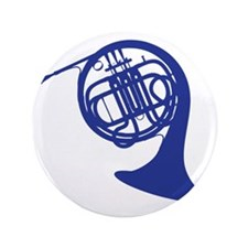 "blue french horn 3.5"" Button"