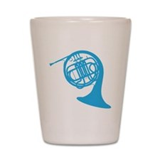 french horn Shot Glass