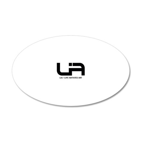LiA Black Logo Cropped with  20x12 Oval Wall Decal