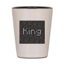 King, Binary Code Shot Glass