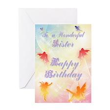 Flower fairy birthday card for sister Greeting Car