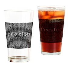 Preston, Binary Code Drinking Glass