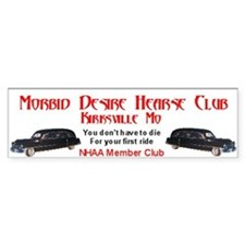 Morbid Desire Hearse Club bumper sticker