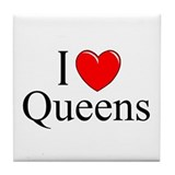 """I Love Queens"" Tile Coaster"
