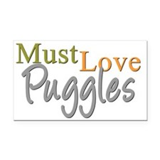 mustlovepuggles Rectangle Car Magnet