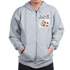 this chick loves saving lives Zip Hoody