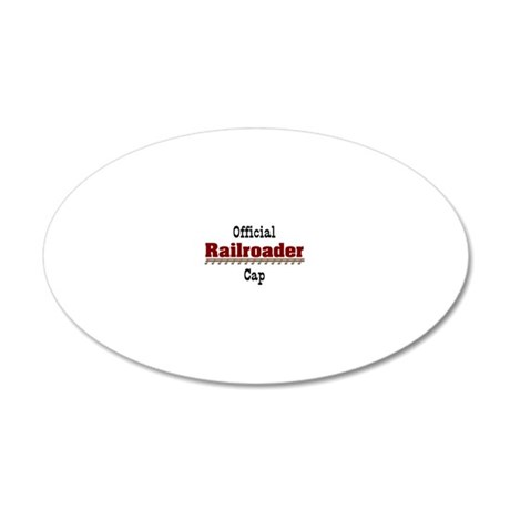 Official Railroader Cap 20x12 Oval Wall Decal