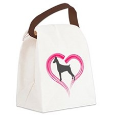 HeartMyBlueDoby Canvas Lunch Bag