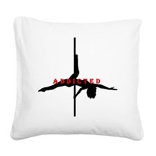 Addicted Black/Red Square Canvas Pillow