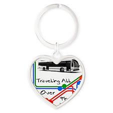 Traveling Heart Keychain
