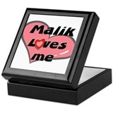 malik loves me Keepsake Box