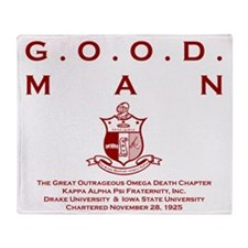 G.O.O.D. Man (Red) Throw Blanket